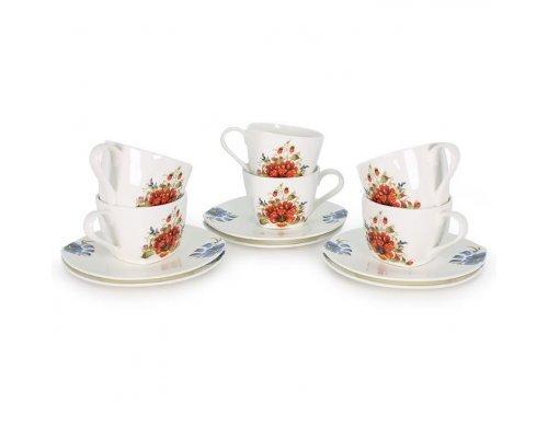 Набор чайных пар Варвара на 6 персон
