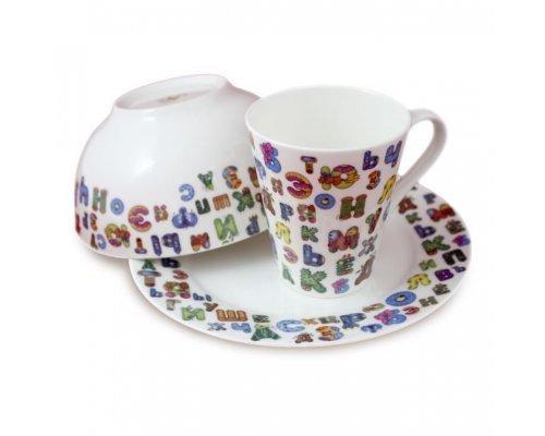 Детский подарочный набор посуды Азбука Акку 3 предмета