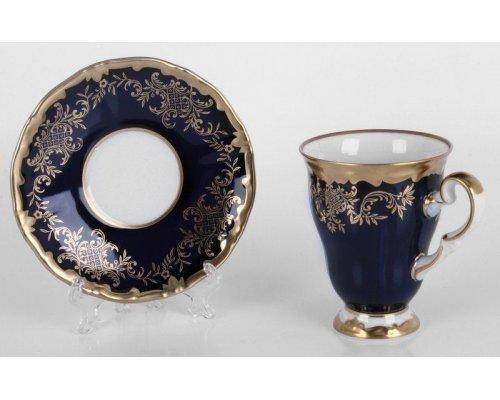 "Набор для каппучино Weimar Porzellan ""Ювел синий 801""(чашка260мл.+блюдце)"