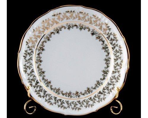 """Набор тарелок Bavaria """"Лист белый"""" 24см. 6шт."""