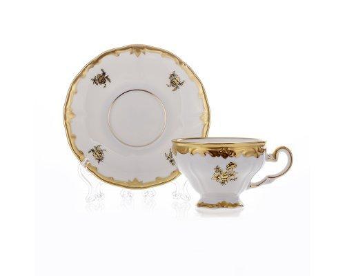 """Набор для кофе 160мл. на 6 персон 12 предметов Weimar Porzellan """"Роза золотая"""""""