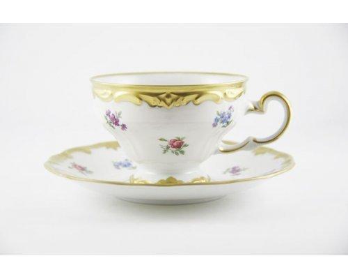 """Набор чайный 210мл.на 6 персон 12 предметов подарочный Weimar Porzellan """"Мейсенский цветок"""""""