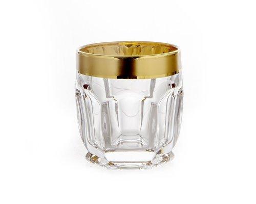 """Набор стаканов для виски 250мл. 6шт """"Сафари Золотая дорожка"""" Bohemia Crystal (Богемия Кристал)"""