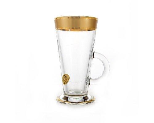 Набор для чая 280мл. Голд UNION GLASS на 6 персон 12 предметов