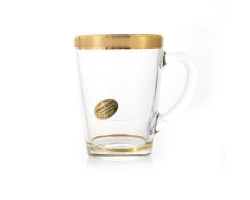 Набор для чая 320мл. Голд UNION GLASS на 6 персон 12 предметов