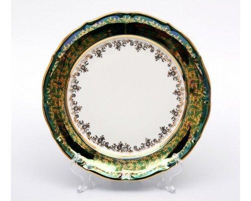 "Набор тарелок Bavaria ""Лист зеленый"" 24см. 6шт."