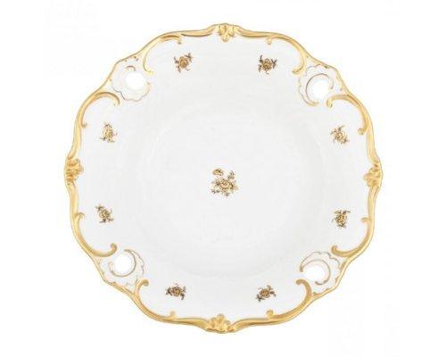 Блюдо глубокое Роза золотая Weimar Porzellan 25 см