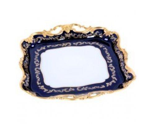 Блюдо квадратное Ювел синий Weimar Porzellan 30 см