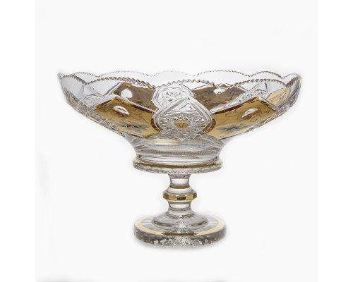 """Ваза для фруктов Acrystal """"Хрусталь с золотом 60550"""" 40,5см."""