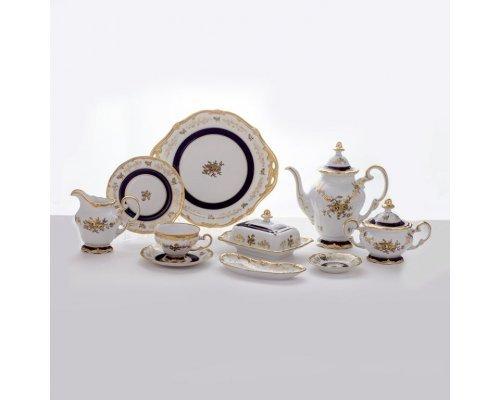 """Сервиз чайный 210мл. 17см. на 12 персон 54 предмета Weimar Porzellan """"Анна Амалия"""""""