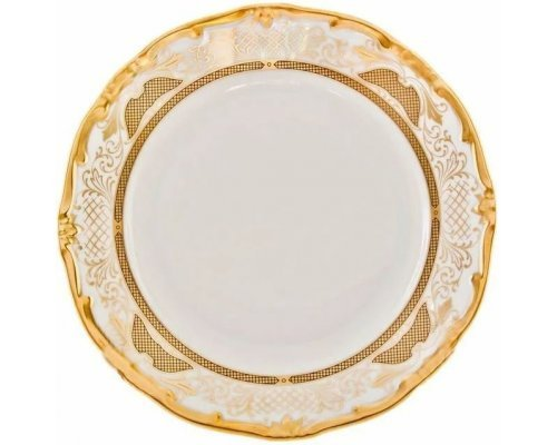 Набор тарелок Симфония Золотая Weimar Porzellan 26 см 6 штук