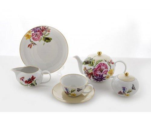"""Чайный сервиз на 6 персон 21 предмет Weimar Porzellan """"Парадиз"""""""