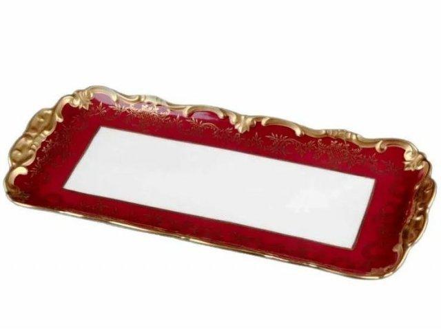 Рулетница Ювел красный Weimar Porzellan 36 см