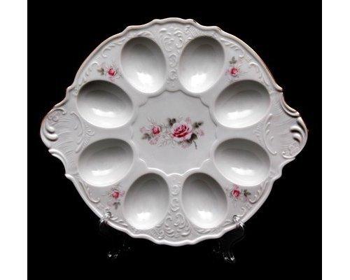 Тарелка для яиц Бернадотт Серая роза золото