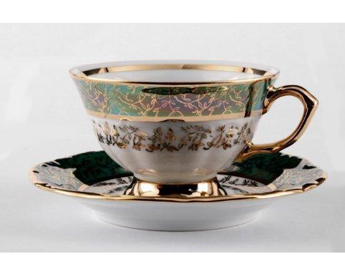 Набор для чая Лист зеленый Карлсбад (Carlsbad) на 6 персон 12 предметов
