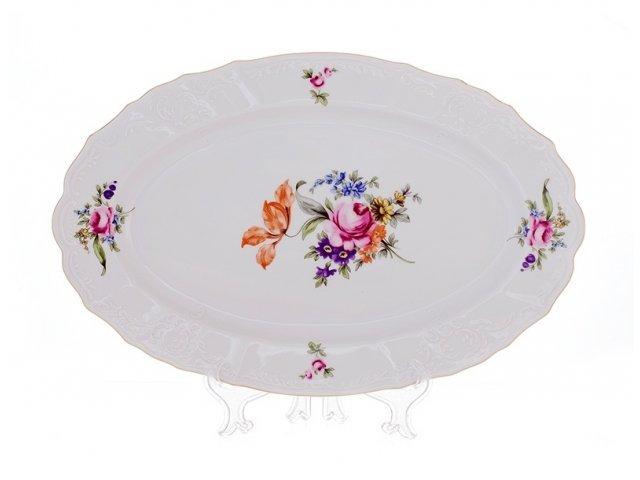 Блюдо овальное 39см Бернадотт Полевой цветок