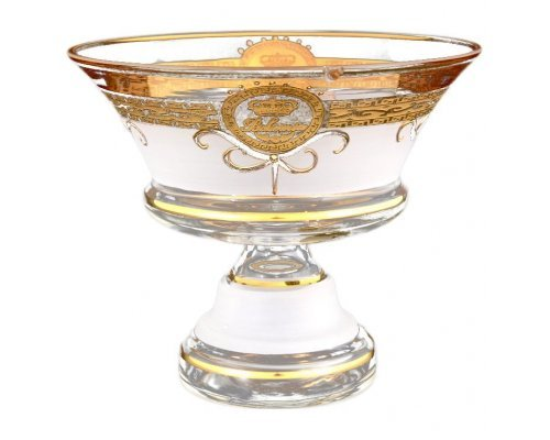 Конфетница 21 см Версаче Богемия А-М Богемия Кристал (Bohemia Crystal)