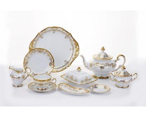 """Сервиз чайный 210мл. Weimar Porzellan """"Кастэл"""" 6 персон 30 предметов"""