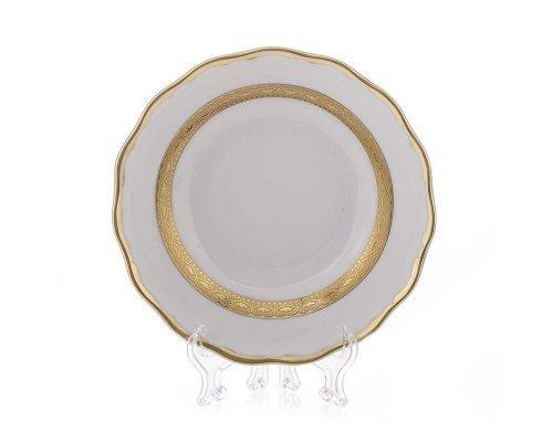 "Набор тарелок Bavaria ""Лента золотая матовая 1"" 17см. 6шт."