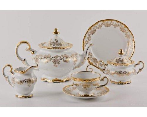"""Сервиз чайный 210мл. Weimar Porzellan """"Кастэл"""" 6 персон 21 предмет 19см. подарочный"""