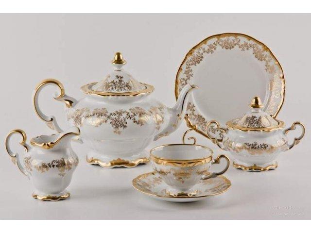 """Сервиз чайный 210мл Weimar Porzellan """"Кастэл"""" 6 персон 21 предмет 19см подарочный"""