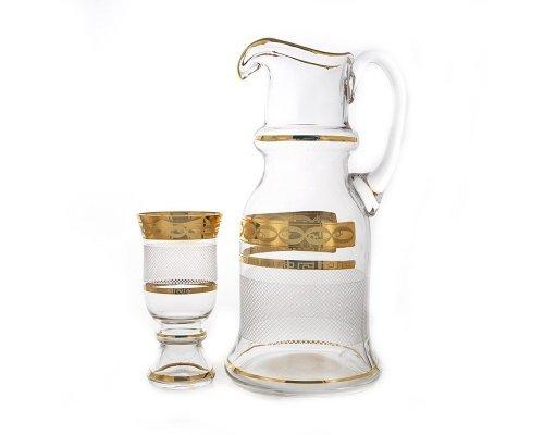 Набор для воды на 6 персон 7 предметов UNION GLAS Декор 6011-Сетка Королевский