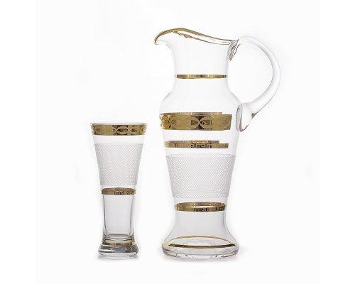 Набор для воды на 6 персон 7 предметов UNION GLAS Декор 6011-Сетка Испанский