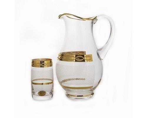 Набор для воды на 6 персон 7 предметов UNION GLASS Декор 6011 - Сетка Идеал