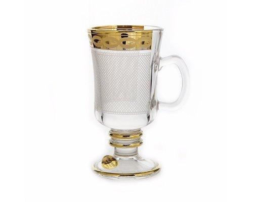 Набор для чая 250мл. Голд UNION GLASS на 6 персон 12 предметов