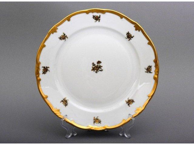 Набор тарелок Роза золотая Weimar Porzellan 24 см 6 штук