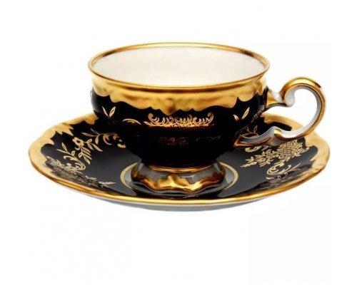 Набор кофейный мокко Ювел синий Weimar Porzellan на 6 персон 12 предметов 100 мл подарочный
