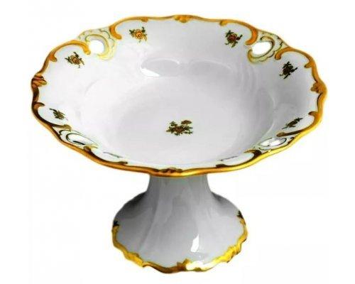 Ваза для фруктов Илза Роза золотая Weimar Porzellan 25 см