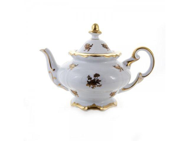 """Чайник заварочный 600мл. Weimar Porzellan """"Роза золотая"""""""