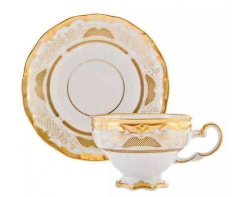 Набор чайный Симфония Золотая Weimar Porzellan на 6 персон 12 предметов 210 мл подарочный