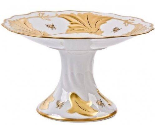 Ваза для фруктов Ютта Роза золотая Weimar Porzellan 25 см