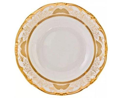 Набор глубоких тарелок Симфония Золотая Weimar Porzellan 24 см 6 штук