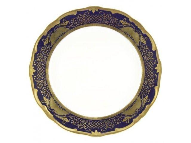 Набор тарелок Симфония Кобальт Weimar Porzellan 24 см 6 штук