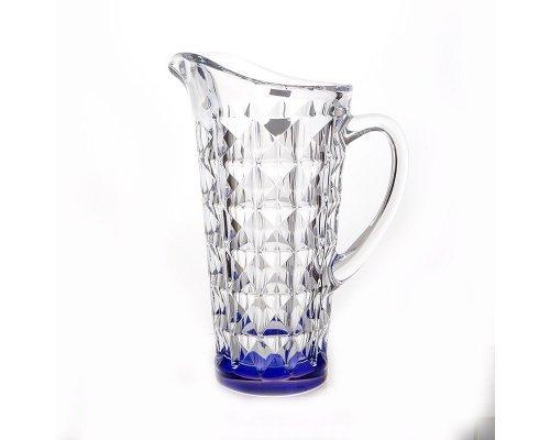 Кувшин 1,25л. Diamond Кристалайт (Kristalayt) Синий