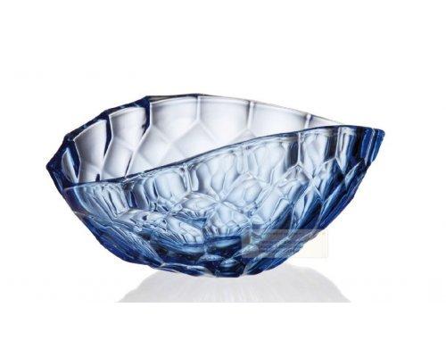 Ваза для фруктов 40,5cм Honey синий Богемия Кристал (Bohemia Crystal)