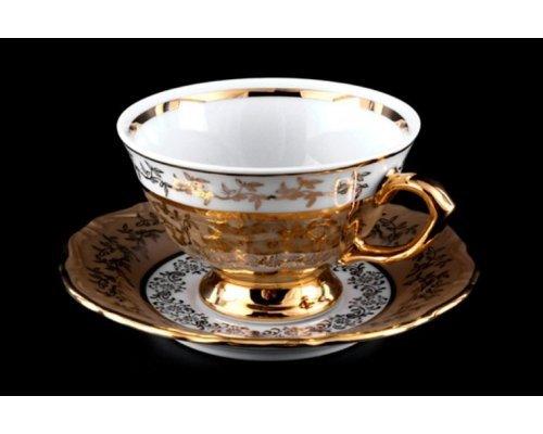 "Набор для чая на 6 персон 12 предметов Bavaria ""Лист бежевый"""