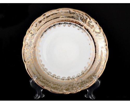 "Набор тарелок Bavaria ""Лист бежевый"" 17см. 6шт."