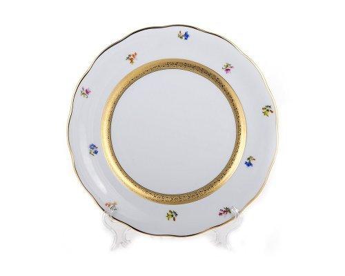 Набор тарелок 26см Золотая лента и цветы Epiag Аляска 3052 6 штук