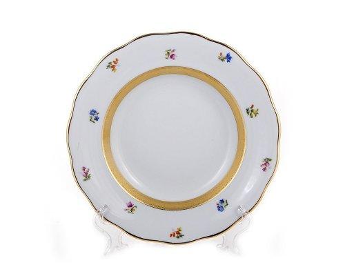Набор глубоких тарелок 22,5см. Золотая лента и цветы Epiag Аляска 3052 6шт.
