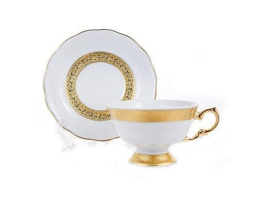 Набор для чая 200мл. на 6 персон 12 предметов Epiag Золотая лента Аляска 3053