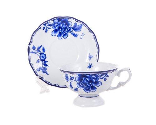 Набор для чая Гжель Epiag Аляска 2727 200 мл на 6 персон 12 предметов