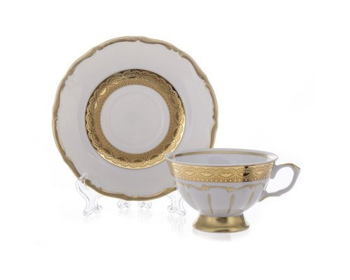 "Набор для чая 200мл. на 6персон 12предметов Bavaria ""Лента золотая матовая1"""