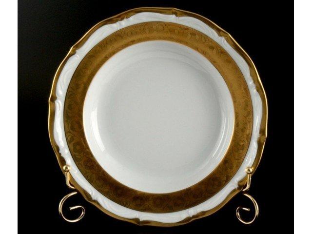 """Набор тарелок Bavaria """"Лента золотая матовая 2"""" 24см 6шт. глубокие"""