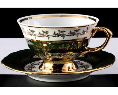 """Набор для чая Bavaria """"Лист зеленый"""" на 6 персон 12 предметов"""