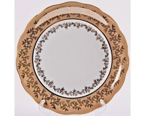 "Набор тарелок Bavaria ""Лист бежевый"" 24см. 6шт."