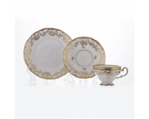 """Набор чайный 210мл. на 6 персон 18 предметов Weimar Porzellan """"Кастэл"""" подарочный"""